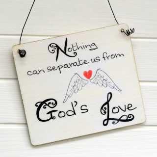 Schild Hochzeit mit Trauspruch GODS LOVE