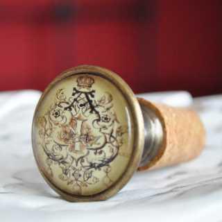 Vintage Flaschenkorken ROYAL alt Messing brüniert
