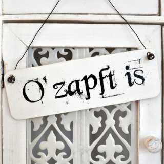 Dekoschild OZAPFT IS passend zum Münchener Oktoberfest