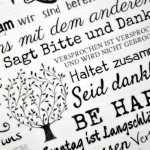 Vintage Dekoschild Holzschild FAMILY RULES im Shabby Chic 15,5 x 13,5 cm M