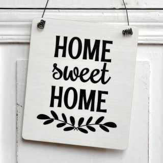 Holzschild Dekoschild Schild HOME sweet HOME