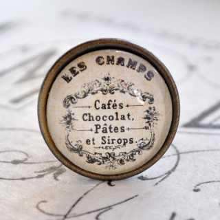 Metallknauf Möbelknopf LES CHAMPS im Shabby Chic