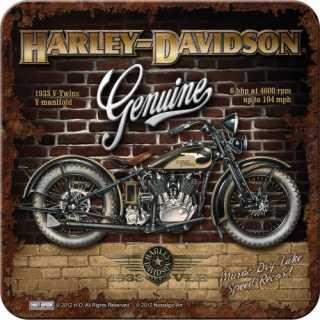 Harley-Davidson BRICK WALL Metalluntersetzer Nostalgic Art 9x9cm