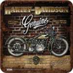 Harley-Davidson BRICK WALL Metalluntersetzer Nostalgic...