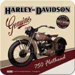 Harley-Davidson FLATHEAD Metalluntersetzer Nostalgic Art...