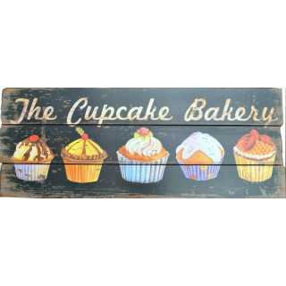 THE CUPCAKE BAKERY Dekoschild im Landhausstil