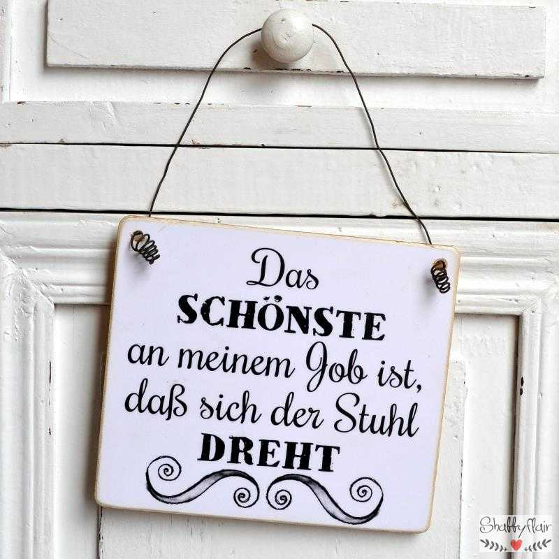 schild mit spruch f rs b ro ein stuhl der sich dreht. Black Bedroom Furniture Sets. Home Design Ideas