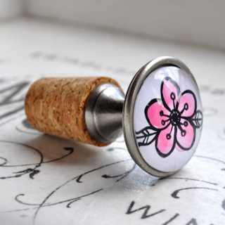 Flaschenkorken Flaschenverschluss CAMELIE pink