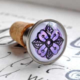 Blumiger Flaschenkorken Flaschenverschluss PURPLE DREAM lila