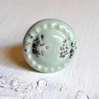 Vintage Möbelknopf MINI MINT aus Keramik (2,8 cm)
