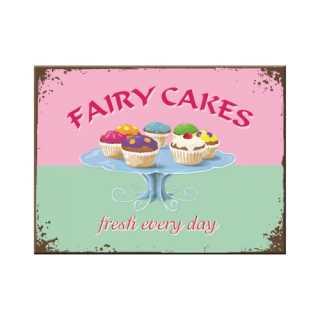 FAIRY CAKES FRESH EVERY DAY Magnet Kühlschrankmagnet 6x8 cm