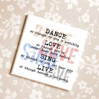 Magnet Kühlschrankmagnet DANCE LOVE SING LIVE