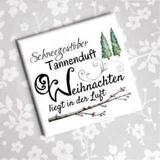 weihnachtlicher Magnet SCHNEEGESTÖBER TANNENDUFT