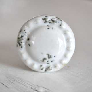 Möbelknopf MINI SNOW aus Keramik (2,8 cm)